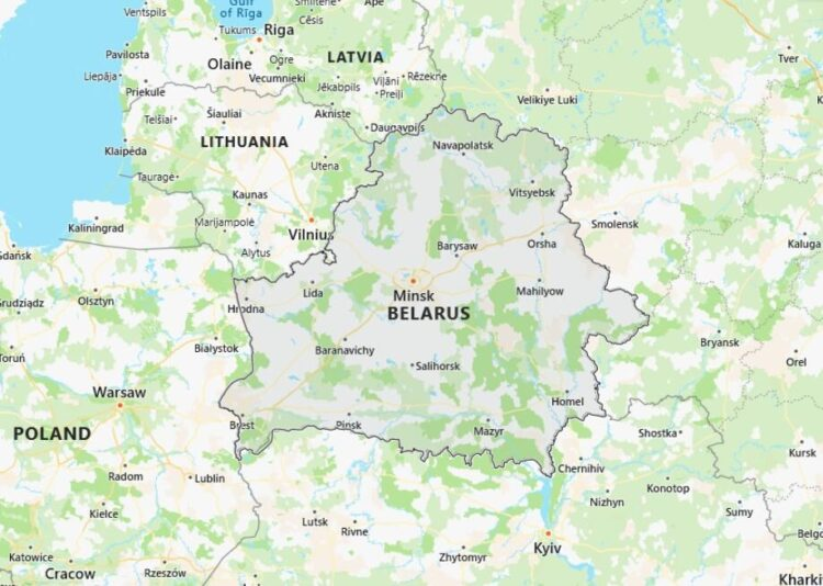 Belarus Map with Surrounding Countries