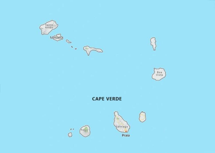 Cabo Verde Map with Surrounding Countries
