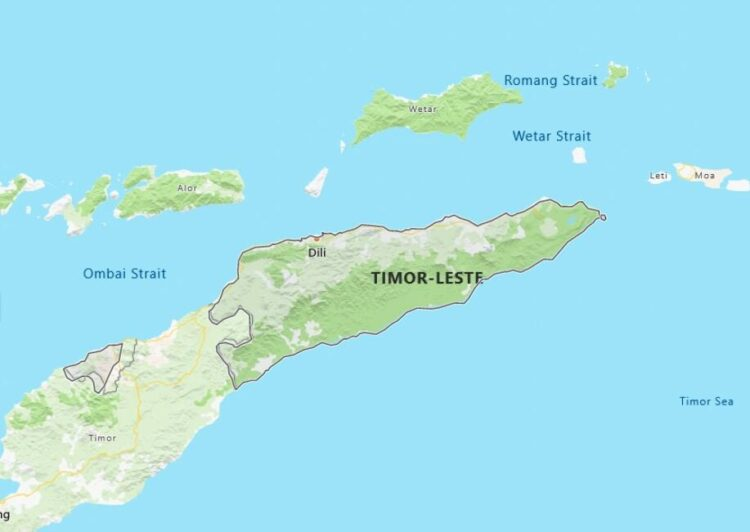 East Timor Map with Surrounding Countries