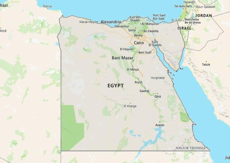 Egypt Map with Surrounding Countries
