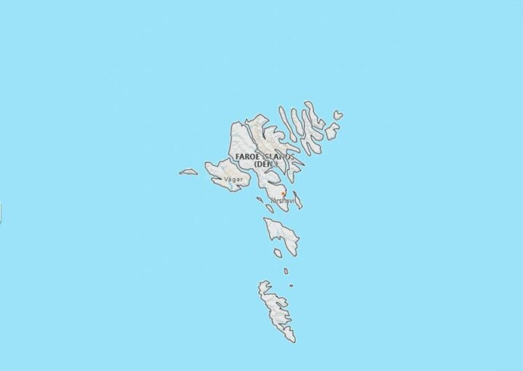 Faroe Islands Map with Surrounding Countries