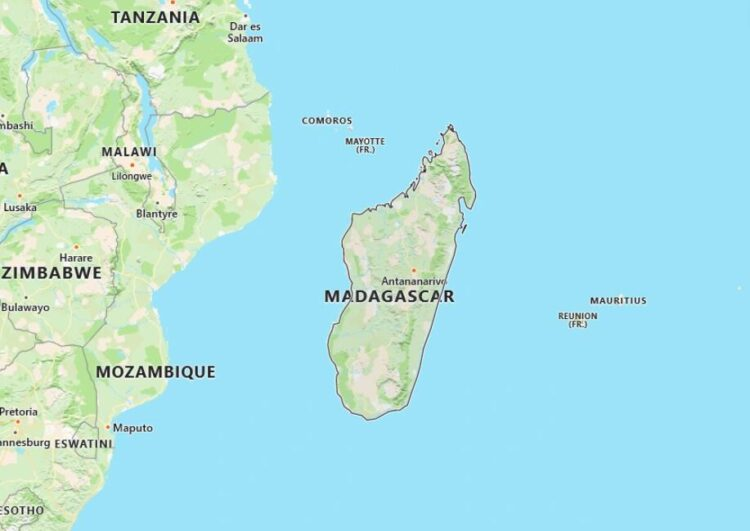 Madagascar Map with Surrounding Countries