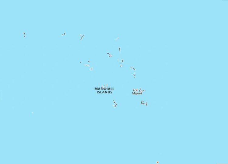 Marshall Islands Map with Surrounding Countries