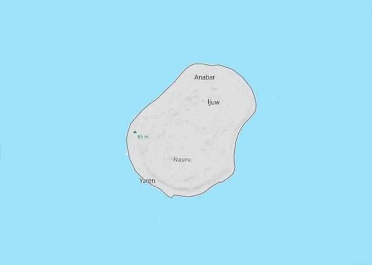 Nauru Map with Surrounding Countries
