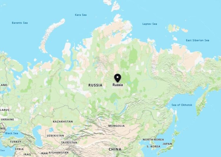 Russia Map with Surrounding Countries