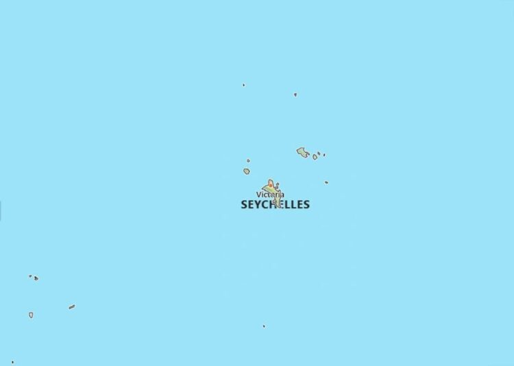 Seychelles Map with Surrounding Countries