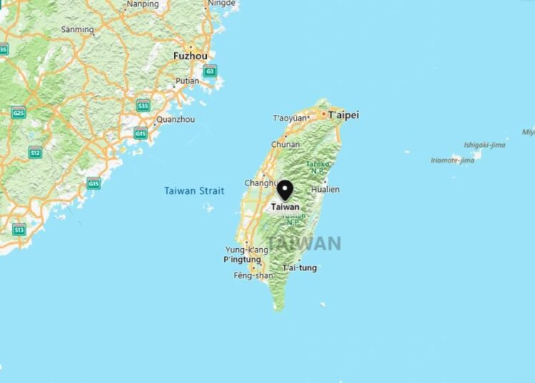 Taiwan Map with Surrounding Countries