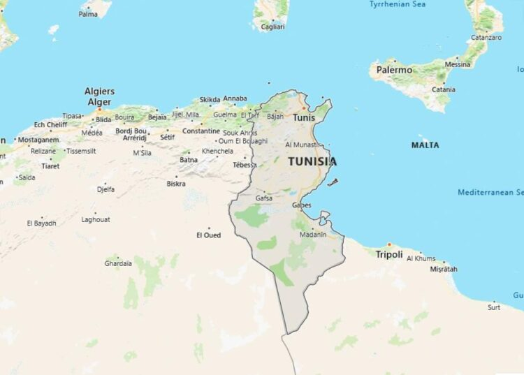 Tunisia Map with Surrounding Countries
