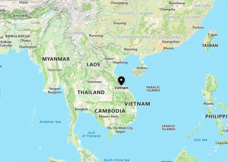 Vietnam Map with Surrounding Countries