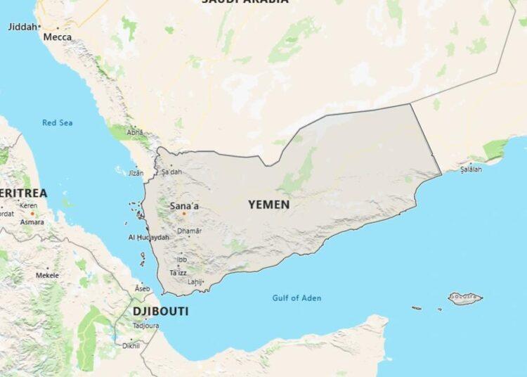 Yemen Map with Surrounding Countries