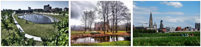 Parks and Garden in Antwerp, Belgium
